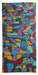 Mosaic Journey Beach Towel by Angelo Thomas