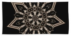 Mosaic Work Of Sepia Art  Beach Towel