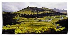 Moss In Iceland Beach Towel