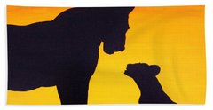Beach Towel featuring the painting Mother Africa 3 by Michael Cross