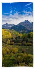 Mount Sneffels Under Autumn Sky Beach Sheet