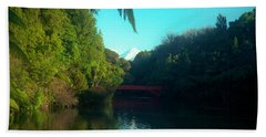 Mount Taranaki Aka Mt Egmont New Zealand Beach Towel