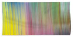 Moving Colors Beach Towel by Susan Stone