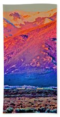 Mt Wheeler At Sunset Beach Towel