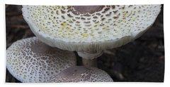Mushroom Trio Squared Beach Towel