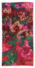 Beach Towel featuring the painting My Sister's Garden I by Alys Caviness-Gober