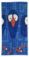 My Three Birds Beach Towel