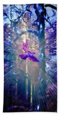 Beach Towel featuring the photograph Mystical Wings by Amanda Eberly-Kudamik