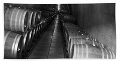 Napa Wine Barrels In Cellar Beach Towel
