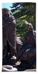 Beach Towel featuring the photograph Native American Statue by Chalet Roome-Rigdon