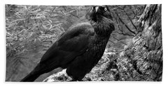 Nevermore - Black And White Beach Sheet
