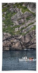 Newfoundland Fishing Boat Beach Towel