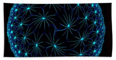 Night Spiders Beach Towel by Danuta Bennett