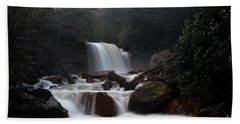 Beach Sheet featuring the photograph North Forks Waterfalls by Dan Friend