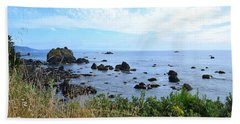Beach Towel featuring the photograph Northern California Coast2 by Zawhaus Photography