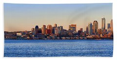 Northwest Jewel - Seattle Skyline Cityscape Beach Sheet