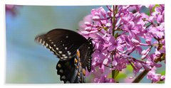 Nothing Says Spring Like Butterflies And Lilacs Beach Towel