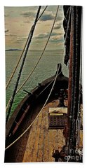 Notorious The Pirate Ship 6 Beach Towel