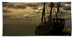 Notorious The Pirate Ship Beach Towel