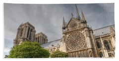 Beach Sheet featuring the photograph Notre Dame De Paris by Jennifer Ancker