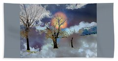 Beach Towel featuring the photograph November Moon by Lenore Senior