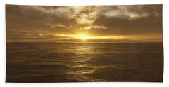 Ocean Sunset Beach Towel by Mark Greenberg