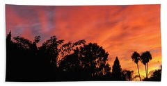 October Sunset 10 Beach Towel