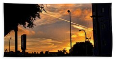 October Sunset 6 Beach Towel