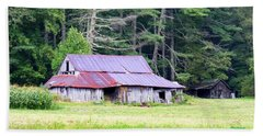Old Barn Near Cashiers Nc Beach Sheet