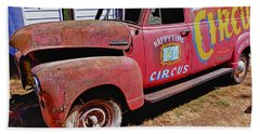 Old Circus Truck Beach Towel