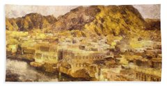 Old City Of Muscat Beach Towel