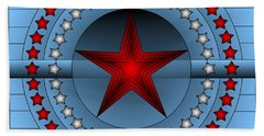 Beach Towel featuring the digital art Old Glory Star by Mario Carini
