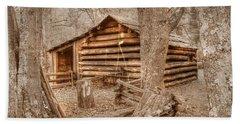 Old Mill Work Cabin Beach Towel by Dan Stone