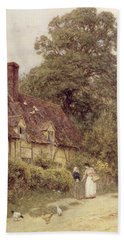 Old Post Office Brook Near Witley Surrey Beach Towel