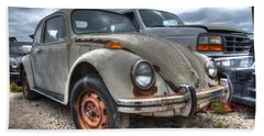 Old Vw Beetle Beach Towel