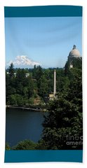 Olympia Wa Capitol And Mt Rainier Beach Sheet