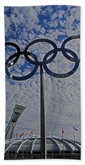 Olympic Stadium Montreal Beach Towel