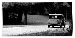 Beach Towel featuring the photograph On The Road Again by Kay Novy