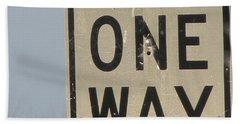 One Way Beach Towel
