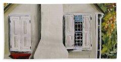 Beach Sheet featuring the painting Open Shutter by John Williams