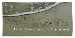Optimism Quote Beach Towel