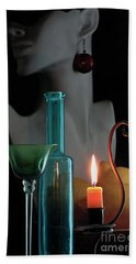 Beach Sheet featuring the photograph Orange Candle by Elf Evans