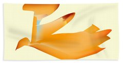 Beach Towel featuring the digital art Orange Jetpack Penguin by Kevin McLaughlin
