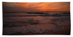 Orange To The End Beach Towel