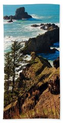 Beach Towel featuring the photograph Oregon Coast by Athena Mckinzie