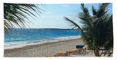 Beach Towel featuring the photograph Orient Beach St Maarten by Catie Canetti