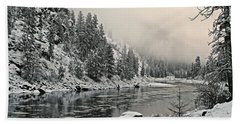 Orofino Snow Clearwater River Beach Towel
