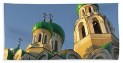 Orthodox Church Of Sts Michael And Constantine- Vilnius Lithuania Beach Sheet