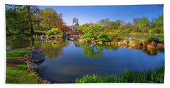 Osaka Garden Pond Beach Sheet