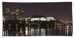Ottawa Skyline Beach Towel by Eunice Gibb